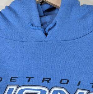 NFL Shirts - Vintage 90's Detroit Lions Hoodie